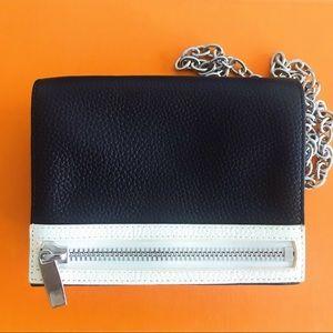 ♠️ Italian Leather black/white small crossbody bag
